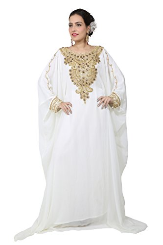 BEDI'S - Vestido - trapecio - Manga Larga - para mujer Off White