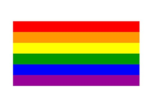 LGBT Rainbow Flag Sticker Car Decal Bumper Sticker Gay Pride Lesbian Bisexual Transgender Support (5x3)