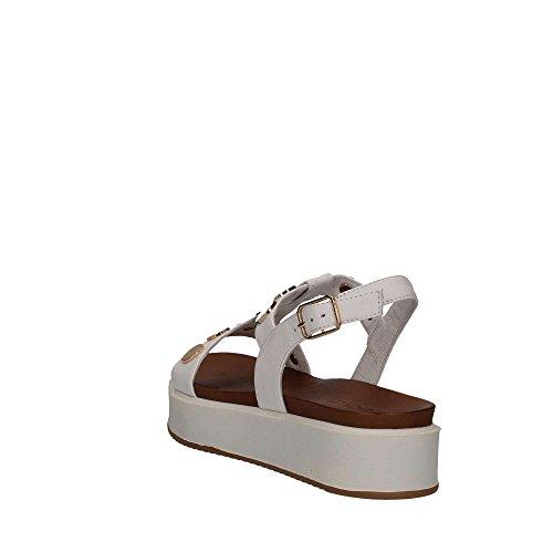 INUOVO 7282 zapatos de las sandalias NEGRO Bianco