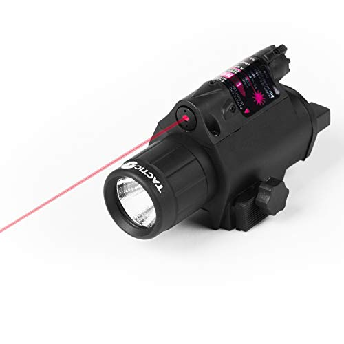 - Tacticon Armament Red Laser Flashlight for Rifle or Hand Gun with Picatinny Rail Mount and Tail Switch (Red-Laser)