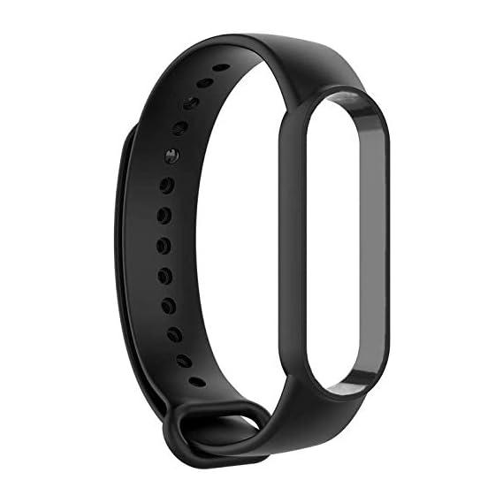 LOKO Silicon Strap for Xiaomi Band 5/ Mi Band 5 (Black)