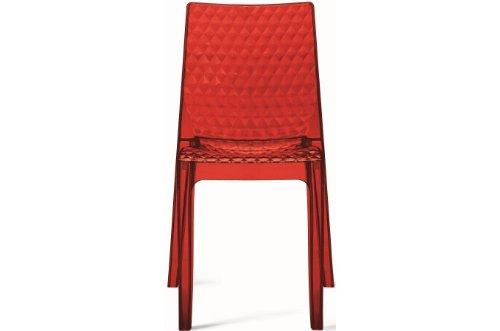 GRAND SOLEIL Grandsoleil upon Hypnotic trasparente sedia impilabile, in policarbonato, rosso rubino, 54x 50x 84cm Grandsoleil_S6319TRRR