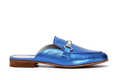 Argent Noir Pantoufle Chaussure Ed122 Platino Mocassin 377 Caf Femme Cuir E18 En ft7qwxfd5
