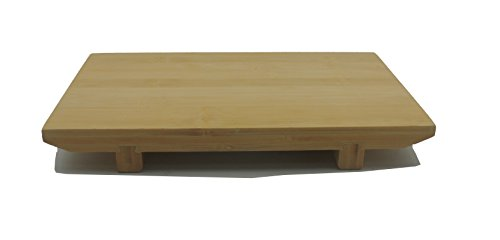 JapanBargain S-4090, Bamboo Sushi Geta Serving Plate, 9.75