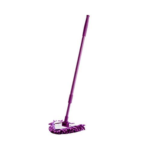 MiMiey Dreieck-Wischmopp Reinigungsmop Einziehbar Dreieckig 180 Grad Mini-Staubwischer Multifunktional Wischer Für Nebelfeuchte Reinigung Mop Viskose Mit Saugstarken Fasern (Lila)