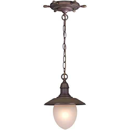 Outdoor Pendant 1 Light Fixtures with Antique Red Copper Finish Steel Material Medium 9