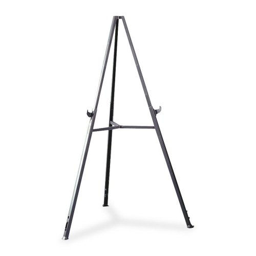 Wholesale CASE of 5 - Ghent Triumph Display Easel-Triumph Display Easel,w/ Retract. Legs,Extends 37''-62'',Gray
