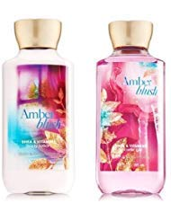 Bath & Body Works – Signature Collection – Amber Blush – Gift Set – Shower Gel & Body Lotion