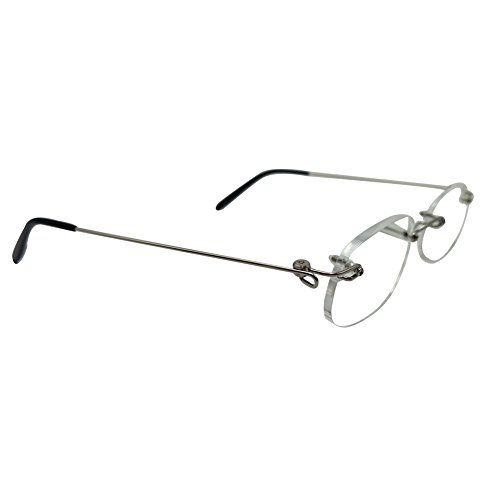 151c641fdf nlefen Unisex Lentes de lectura sin montura ligeras bisagras de primavera  Gafas sin marco 60%