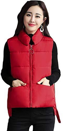 群れ気配りのある毎年Alhyla ダウンベスト レディース インナーダウンベスト 袖なし シンプル 無地 あったか 軽量 秋 冬 ベスト 中綿 ベスト 無地 ショートベスト