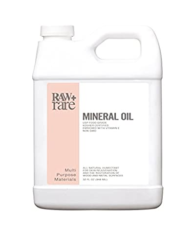 Mineral Oil 32oz, Food Grade Safe Wood Oil, Butcher Block Conditioner, Cutting Board, Knife Blade, Cast Iron Tools, & Pans For Food Kitchen Preparation, Laxative by Raw Plus Rare (Sexo And The City)