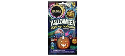 ILLOOMS USA LED Light Up White Balloons with