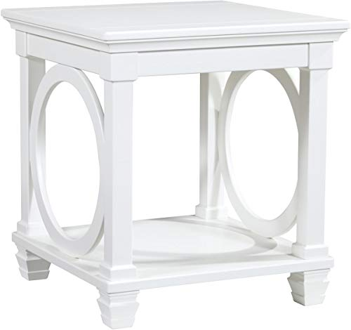 Ashley Furniture Signature Design – Mintville Contemporary Square End Table – White