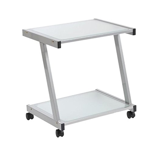 Scranton & Co Frosted Glass Printer Cart in ()