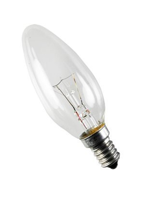 Prilux incandescencia - Lámpara vela lisa clara 60w 125v e14