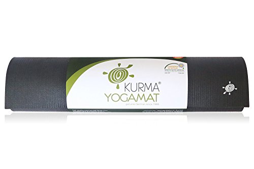 Extra Long Professional Yoga Mat, Extremely Durable, Non Toxic, Ashtanga Approved (Black)