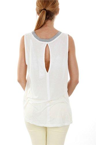 Go Tendance - Camiseta - para mujer blanco