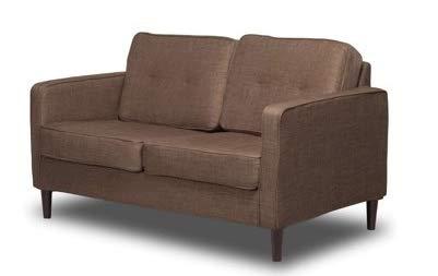 Amazon.com: Love Seat Small Sofa Bench Sandstone 55