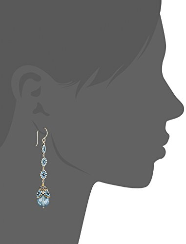 Miguel Ases Blue Hydro-Quartz Egg Swarovski Three-Station Drop Earrings by Miguel Ases (Image #2)