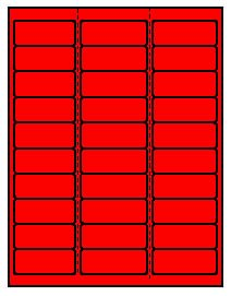 20 Sheets, 600 Label Outfitters® Fluorescent Neon Red 2-5/8 x 1 Laser Only Address Labels use Avery® 5160 Template