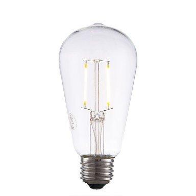 yyhaoge 6pcs 2 W 220 lm E26 LED Bombillas de filamentos, ST19, 2 ledes