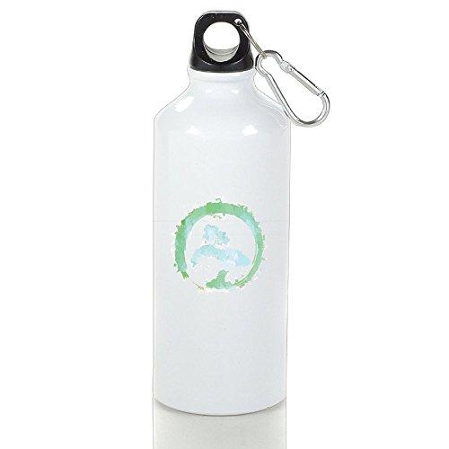 Wooun-6 Mountain Bike Aluminum Water Bottle Japanese Bonsai Tree Enso Circle Art Sport Bottle by Wooun-6