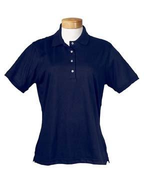 Jerzees-Ladies' 5.6 oz., 50/50 Jersey Polo with SpotShield~True Navy~Womens-XL