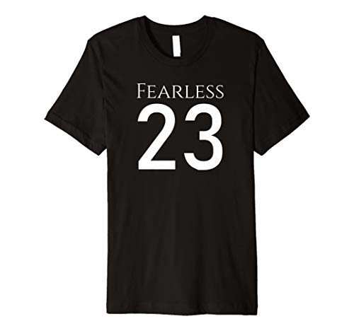 Fearless 23 Bible Psalm Religious Christianity Jesus Christ Premium T-Shirt