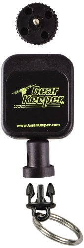 - Hammerhead Industries Gear Keeper Micro Fishing Zinger Retractor RT5-2102 - Features - Heavy Duty Threaded Stud Mount with Q/C Split Ring Accessory - Made in USA