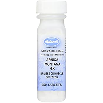 Hyland's Arnica Montana 6X Tablets, Natural Homeopathic Relief of Bruises & Muscle Soreness, 250 Count