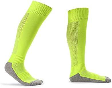 タオル底肥厚スポーツソックス屋外スポーツトレーニング滑り止めストッキング8-14歳子供子供のサッカーソックス 耐久性 (Color : C5, Size : Free)