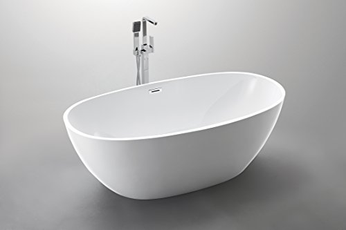 Luxury 67x34 Modern Contemporary Freestanding Acrylic Soaking Spa Bathtub - cUPC Certified by American Tubs (Image #1)