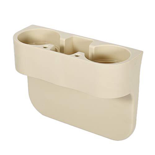 Car Cup Holder car Beverage Seat Seam Wedge Drink Holder Auto Truck Universal Mount Automotive Accessories Creamy-White ()