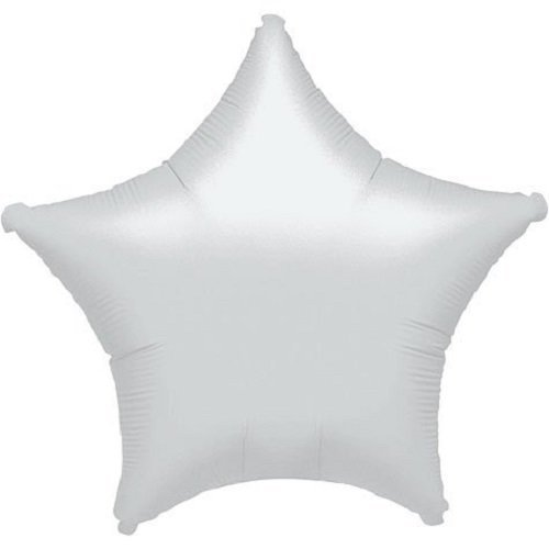 "Anagram Lot of 10 White Star Shape Foil Mylar 19"" Balloon Birthday Party Decoration"