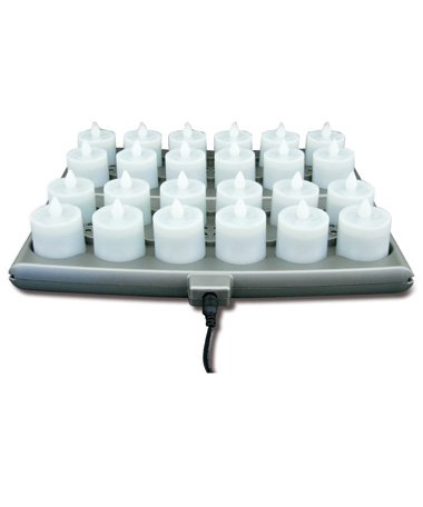 Hollowick Platinum Series Flameless Candle System Sets (Amber, 24 candles set)