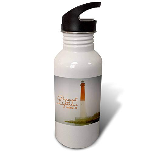 - 3dRose Stamp City - architecture - Photograph of Barnegat Lighthouse in Barnegat, New Jersey. - Flip Straw 21oz Water Bottle (wb_289739_2)