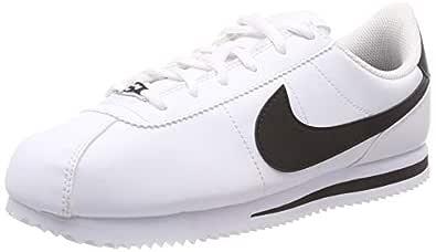 Nike Australia Boys Cortez Basic SL (GS) Fashion Shoes, White/Black, 4 US