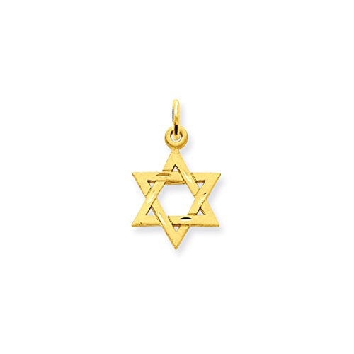 ICE CARATS 14kt Yellow Gold Solid Jewish Jewelry Star Of David Pendant Charm Necklace Religious Judaica Fine Jewelry Ideal Gifts For Women Gift Set From Heart Pendant 14kt Yellow Gold Jewelry