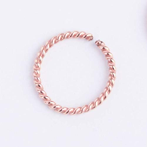 18 Gauge Rose Gold Filled Hoop - 18g Body Piercing Jewelry Small 6mm