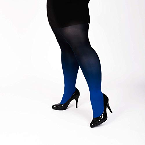287dce2b38b84 Amazon.com: Hand dyed blue ombre tights, plus size clothing for women, gift  under 50 dollars: Handmade