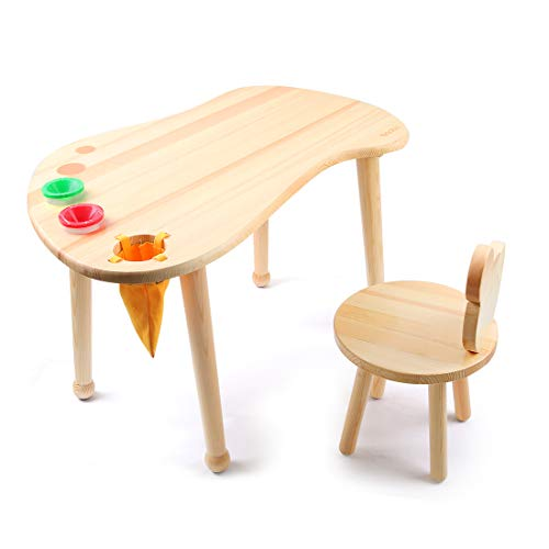 Baobe Kids Deluxe Wooden Chair for Toddlers - Sturdy Hardwood Seat for Daycare/Preschool/Home Furniture - Natural -