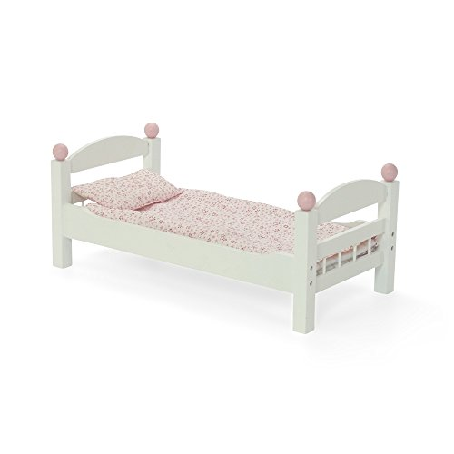 Emily Rose Doll Clothes 18 Inch Doll Furniture Stackable White Single Bunk Bed With Bedding