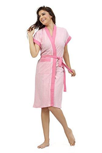 b98313d7f Buy Superior Women s Cotton Bathrobe(Peach