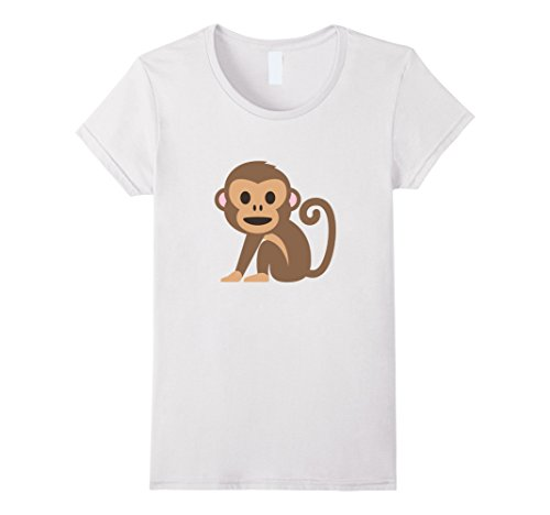 Womens Monkey Animal T-Shirt Hear Speak See No Evil Hands...