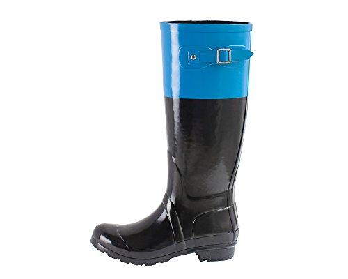 Oakiwear OAKI Women's Noxon Rubber Rain Boots, | Ankle Boot Wellies Blue