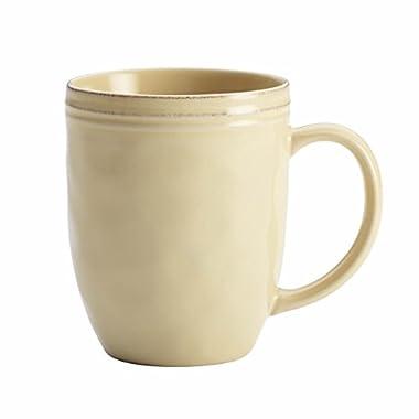 Rachael Ray Cucina Dinnerware Stoneware Mug, 12-Ounce, Almond Cream