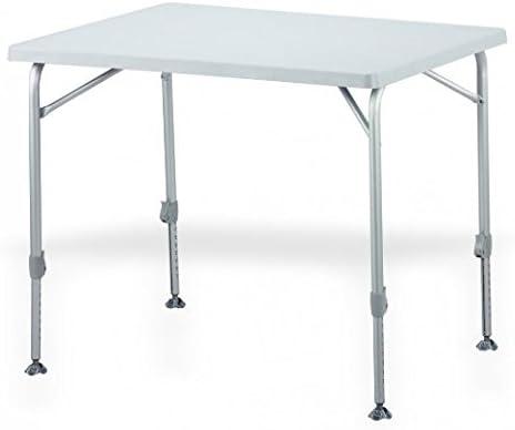 Mesa plegable ligera y ovalada de aluminio – Placa de madera de ...