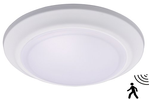 Cloudy Bay Microwave/Radar Motion Sensor Ceiling Light,12W 5000K Bright Day Light,7.5 inch LED Flush Mount Round Lighting Fixture for Garage,Walk-in Closet,Attic,Laundry by Cloudy Bay