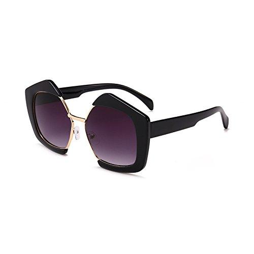 Mujer A Última Burenqi UV400 Gafas diseñador Lentes Sol Marca de de Moda Gafas E gradiente Polígono Acetato Frame Hombre CgfwXqfr