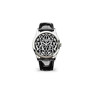 Best Epic Trends 319lw6sPhyL._SS300_ Patek Philippe Calatrava Platinum 5088-100P-001 with Handengraved, Black Enamel dial
